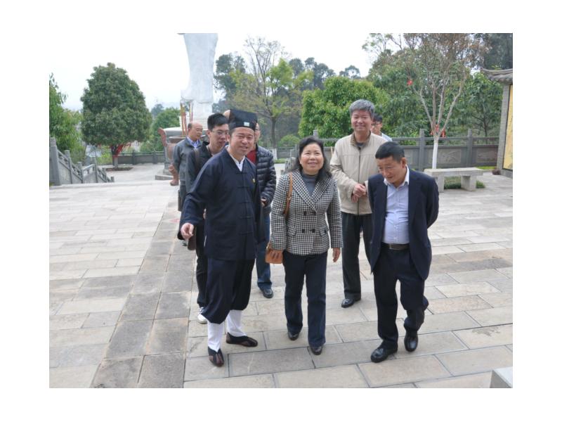 省民族宗教委副主任盘艳阳到省道教协会调研