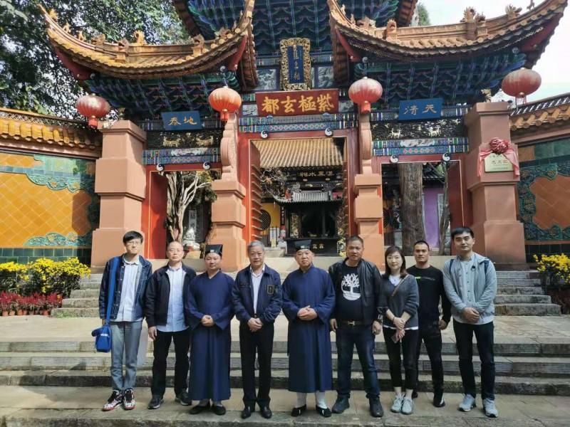 中国宗教学会刘瑞旗副会长到省道协龙泉观参访交流